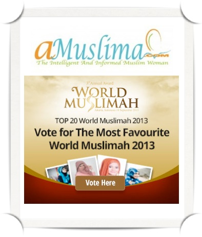 Choose your favorite World Muslimah Finalist  It's time to choose your favorite Muslimah! Screen Shot 2013 09 14 at 9