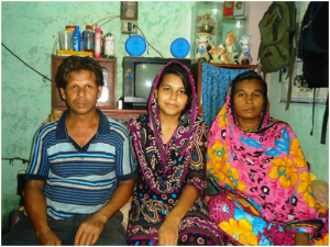 Dilruba with her family   OBAT Charitable Efforts - Masha Allah Dilruba with her family