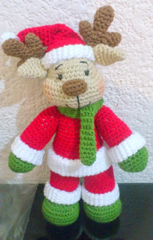 Free Christmas Crochet Patterns.Free Reindeer Crochet Patterns Amvabe Crochet