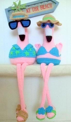 Red Heart Fiona and Fred Crochet Flamingo | Yarnspirations | 500x293