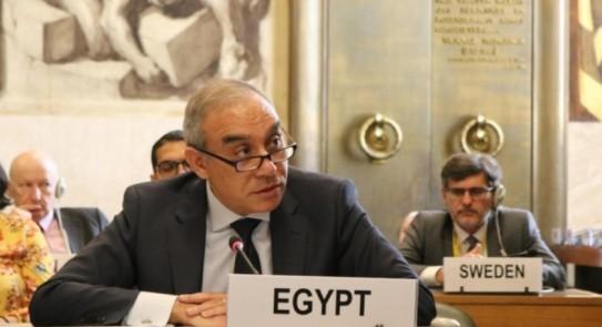 السفير علاء يوسف، مندوب مصر الدائم لدى الأمم المتحدة