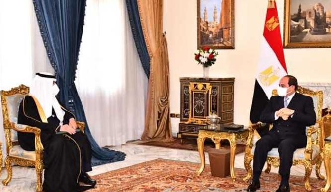 الرئيس السيسي يستقبل عضو مجلس الوزراء السعودي