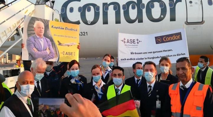 مطار الغردقة يستقبل رحلة طيران قادمة من ألمانيا