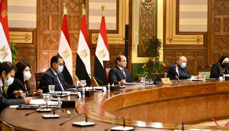 جانب من مشاركة الرئيس السيسي ورئيس الوزراء في اجتماع لغرفة التجارة الأمريكية افتراضيا