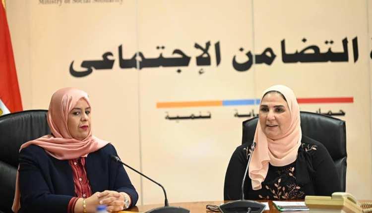وزيرة التضامن الاجتماعي تبحث مع نظيرتها الليبية تعزيز التعاون في المجالات المشتركة