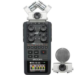 [RENT] Zoom H6 6-Input / 6-Track Portable Handy Recorder with Interchangeable Mic Capsules