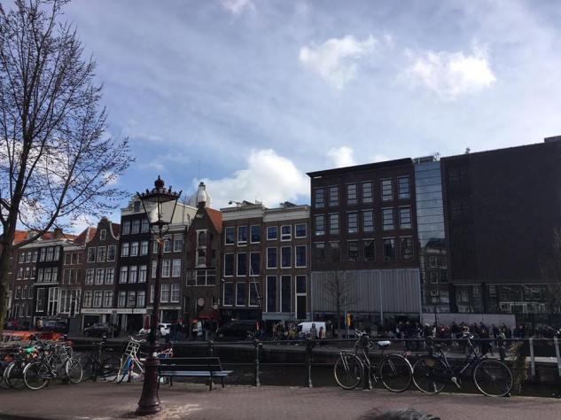 Outside Anne Frank House