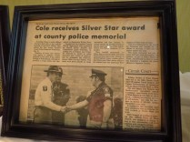 Article on his award for bravery.