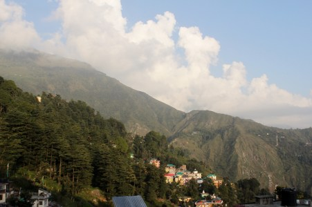 View from my balcony @ The Green Hotel, McLeod Ganj