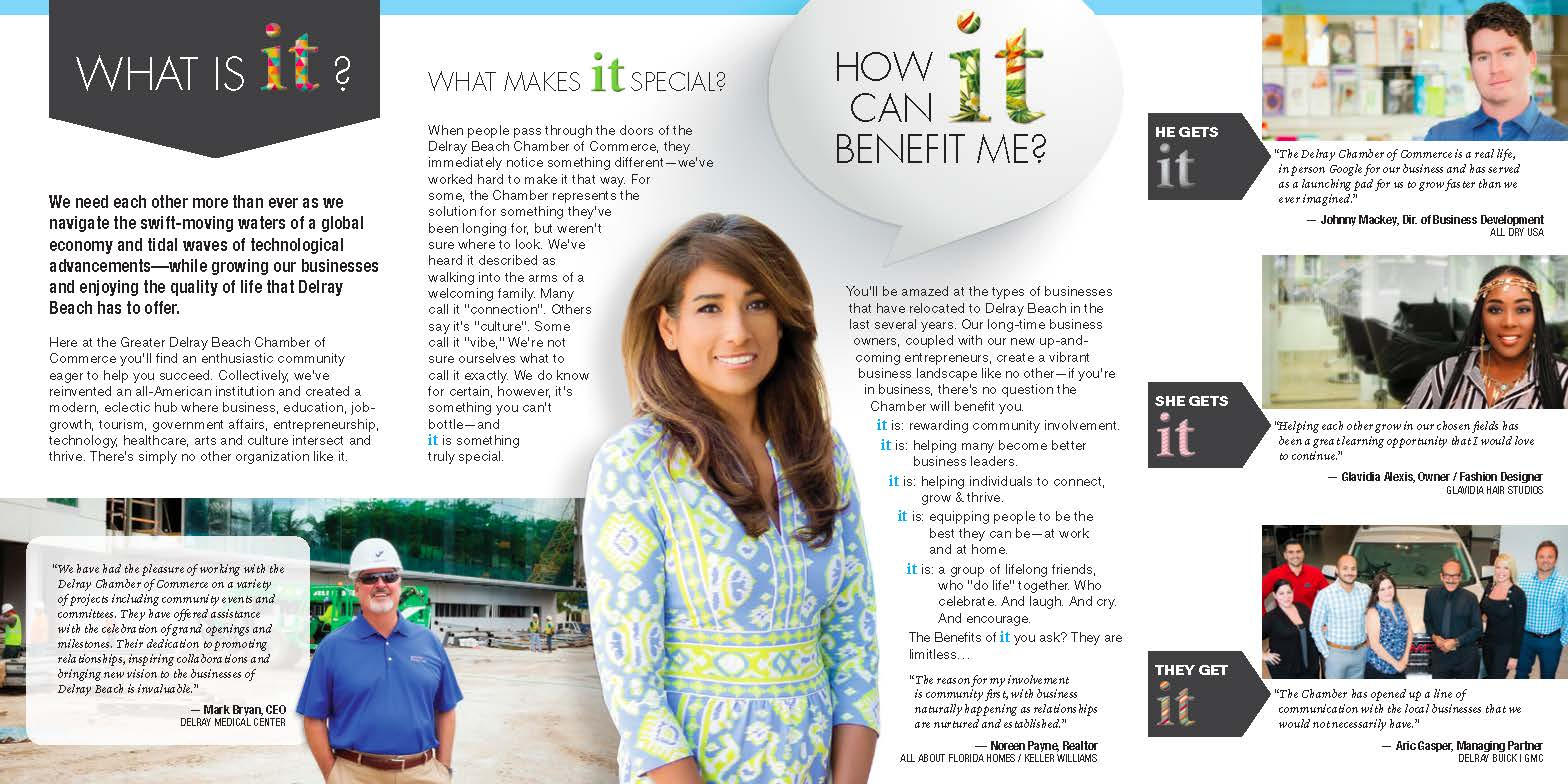 Greater Delray Beach Chamber of Commerce brochure