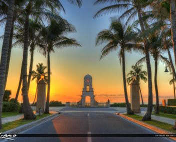 Sunrise at Worth Avenue on Palm Beach Island photo