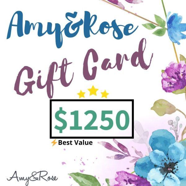 $1250 Gift Card AmyandRose