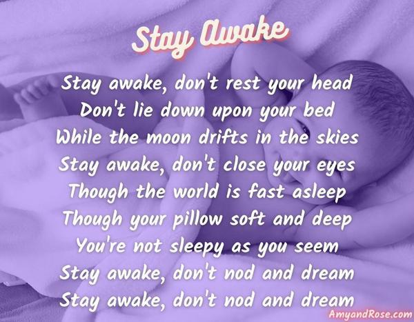 Stay Awake Lullaby Lyrics