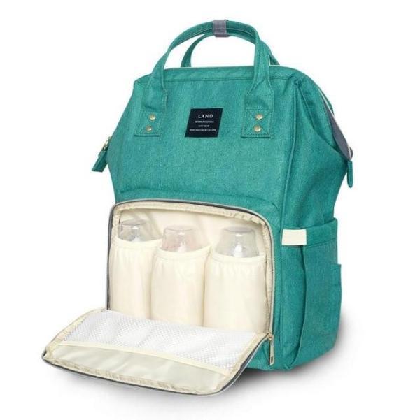 Land Diaper Backpack Bag - Green - AmyandRose