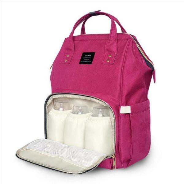 Land Diaper Backpack Bag - Dark Pink - AmyandRose