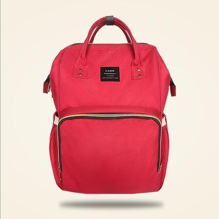 Land Diaper Backpack Bag - Red - AmyandRose