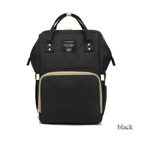 Lequeen Diaper Backpack Black