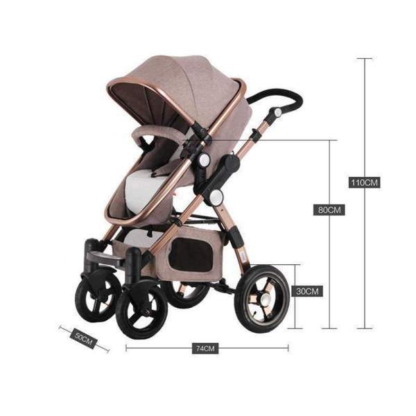 Baby Stroller 3 in 1 Dimensions