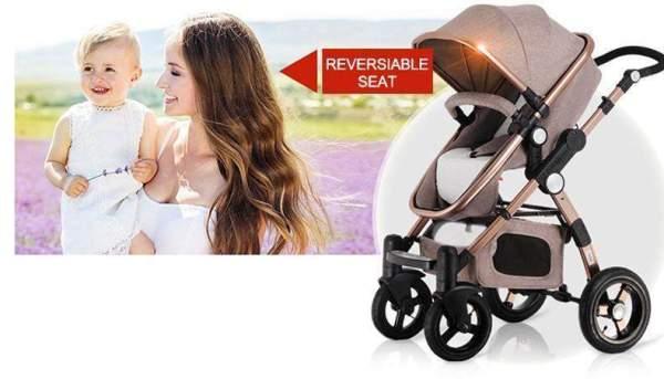 Baby Stroller 3 in 1 Reversible Sear