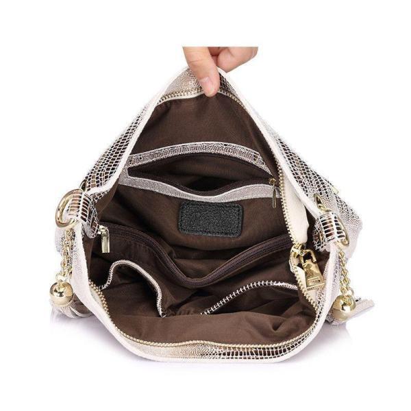 Mason Crocodile Bag Handbag Open