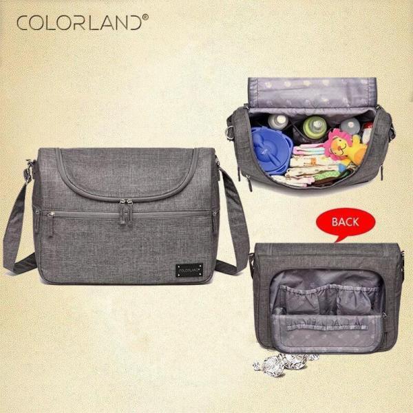 Messenger Diaper Bag Interior