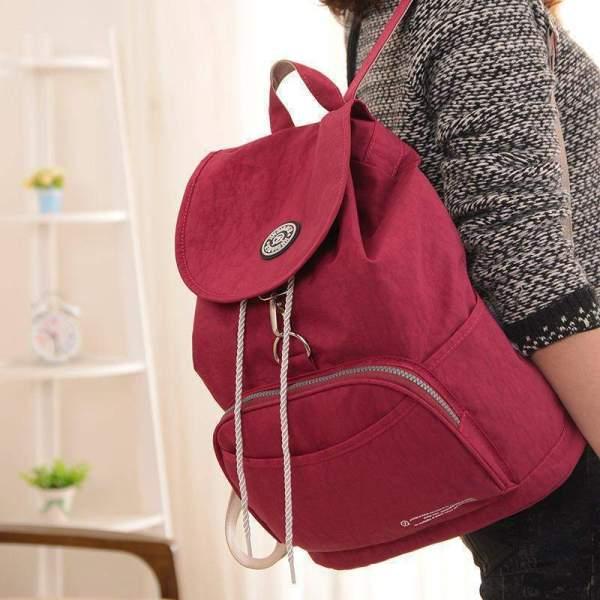 Preppy Style Women's Waterproof Backpack Shoulder Strap