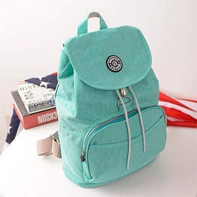 Preppy Style Women's Waterproof Backpack Green