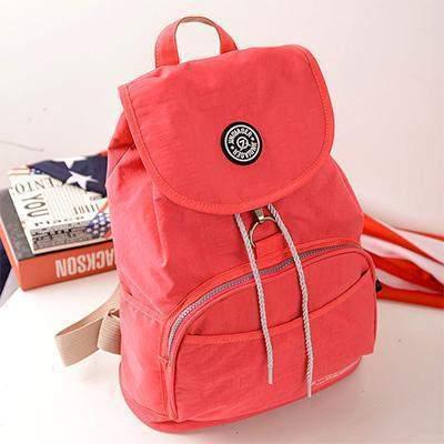 Preppy Style Women's Waterproof Backpack Red