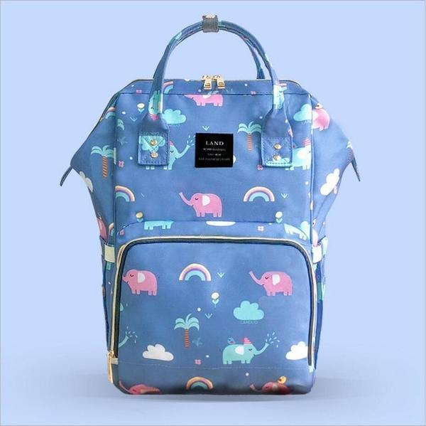 Elephant Diaper Backpack Purple