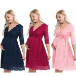 Floral Cocktail Party Maternity Dress