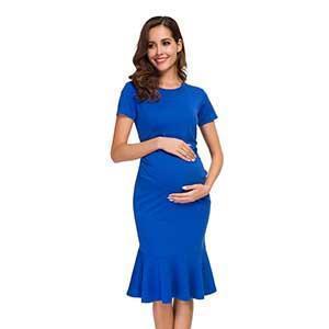 Bodycon Maternity Dress Royal Blue