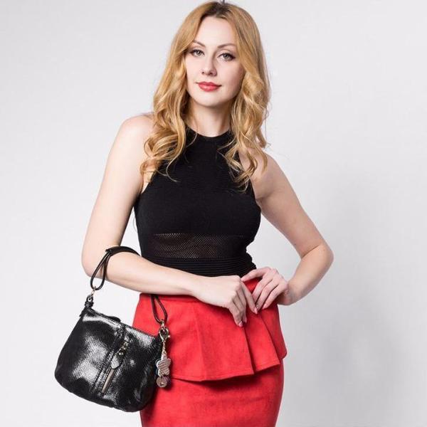 Sissy Leather Handbag Model Black