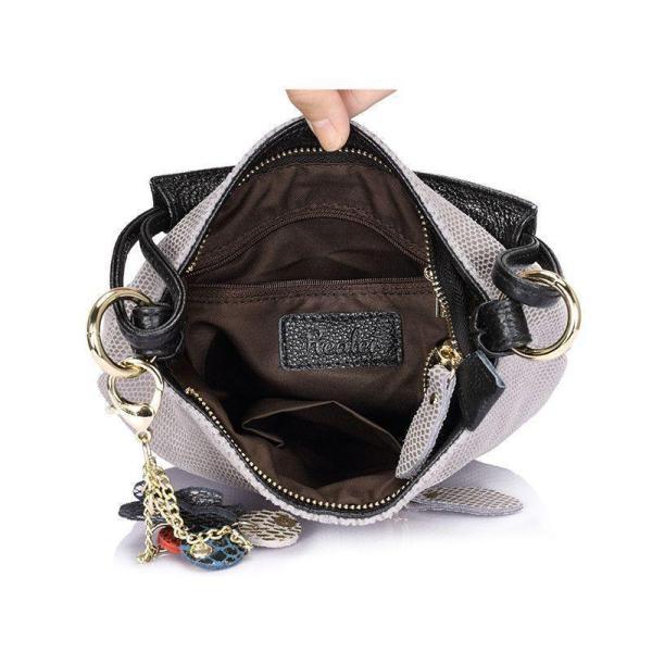 Sissy Leather Handbag Open