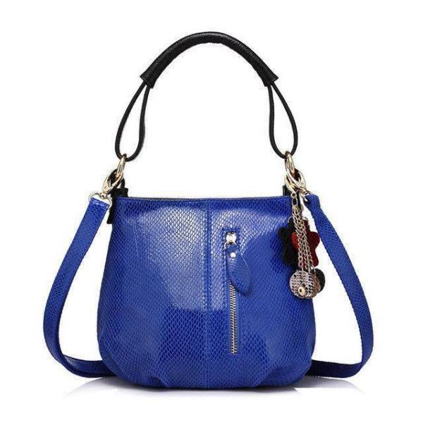 Sissy Leather Handbag Blue