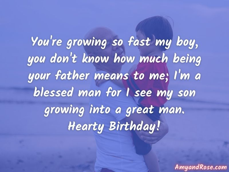 Happy Birthday Wishes from Dad to Son