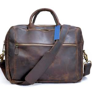 Leather Convertible Backpack Front