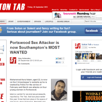 Portswood Sex Attacker is now Southampton's MOST WANTED
