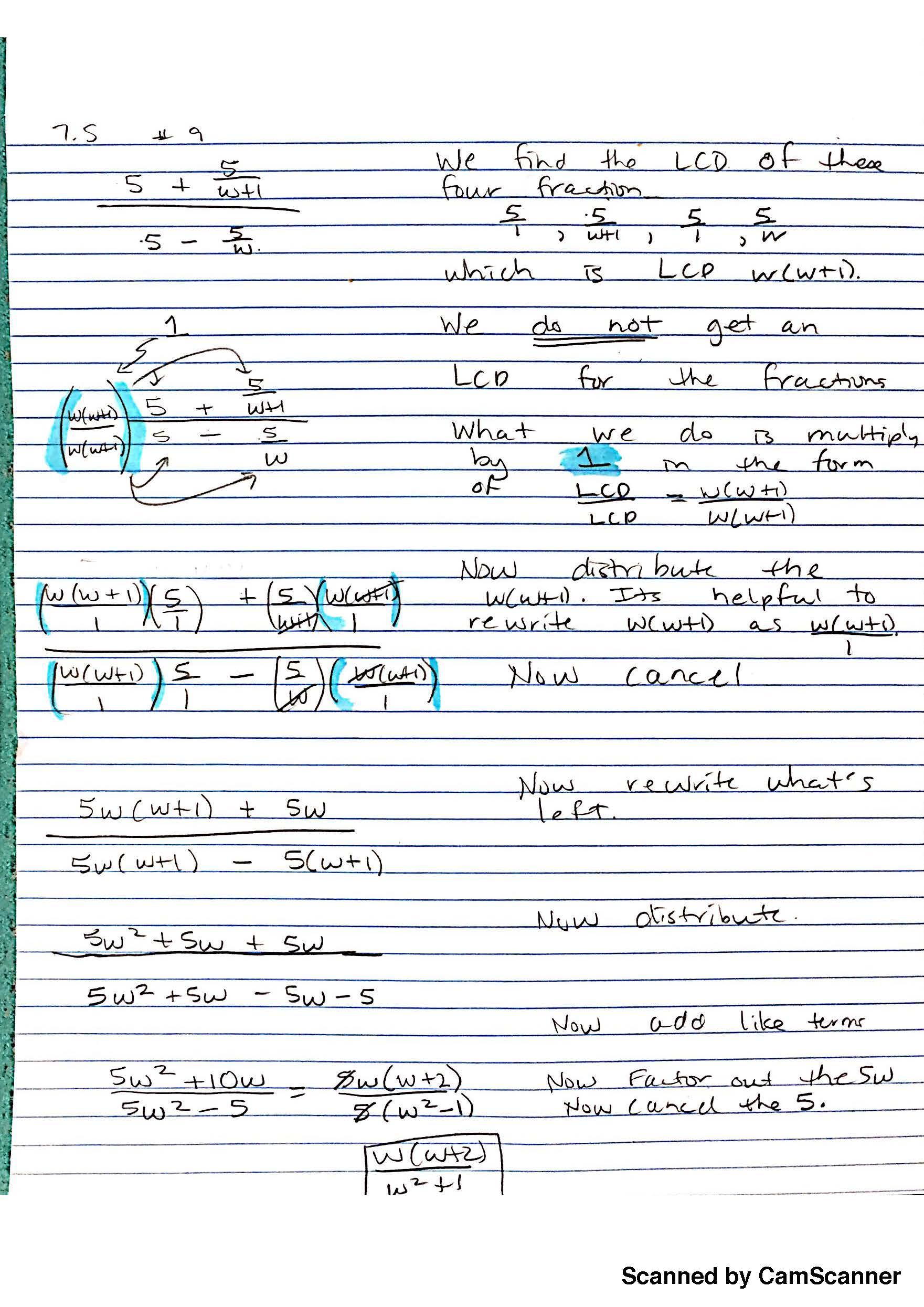 Complex Fractions