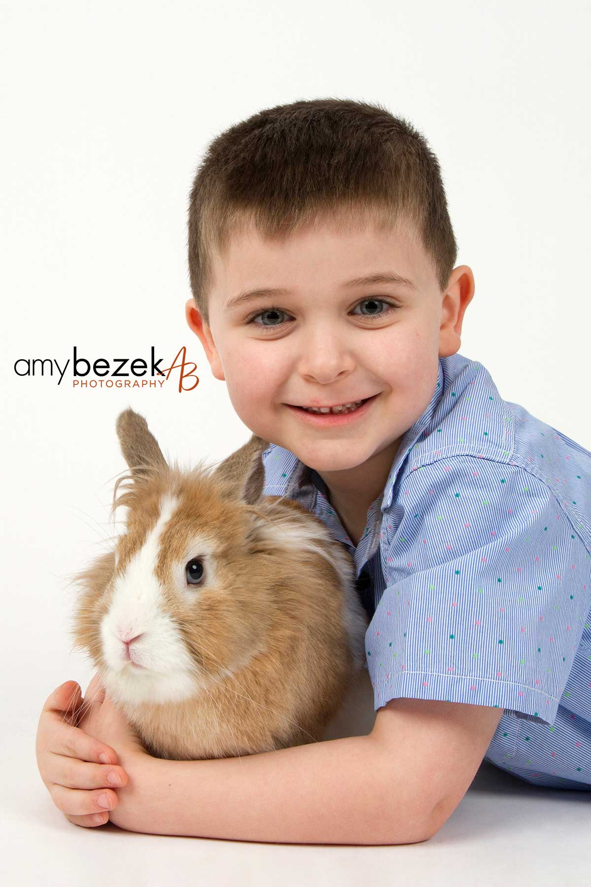 Easter Portraits with Fred the Bunny a Benefit for Whiskers World, Portrait Photography, Edwardsville, PA