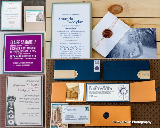 ©Amy Boyle Photography - Custom Invites by Spilled Ink Press, Chicago