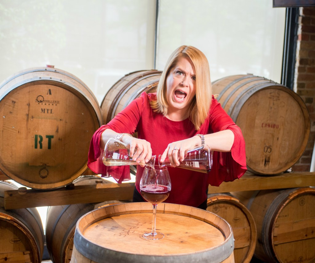 52 Phenomenal Women- photo essays by Amy Boyle Photography benefitting Dress for Success Worldwide – Central. 2018  - pictured Wine expert Laurie Forster, The Wine Coach