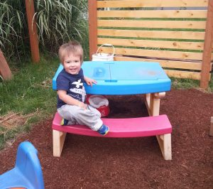 Hanging in the play space