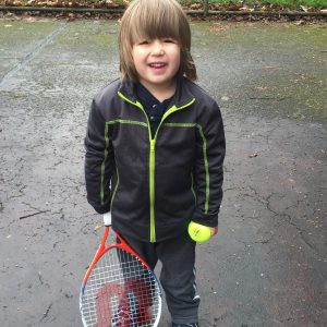 Not ready to commit to being a tennis prodigy.