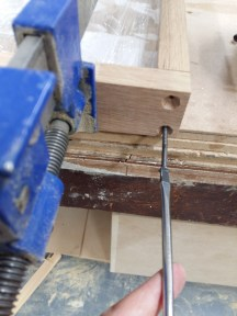 Fitting together the joints of my frames.