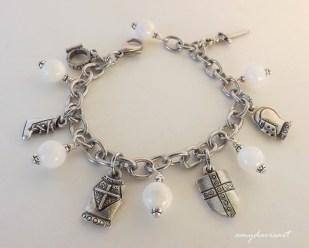 Beautiful beaded charm bracelet based on Ephesians 6 scripture verses
