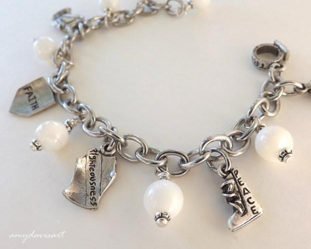 Full Armor of God Christian Charm Bracelet