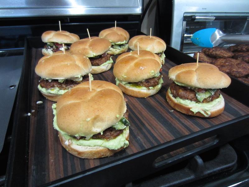 Martita's  beef & chorizo burgers