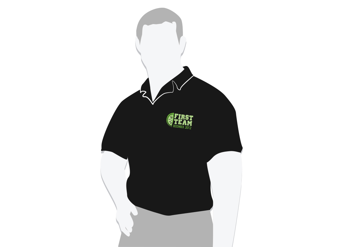 First Team Polo Graphic