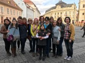 Group photo in the square