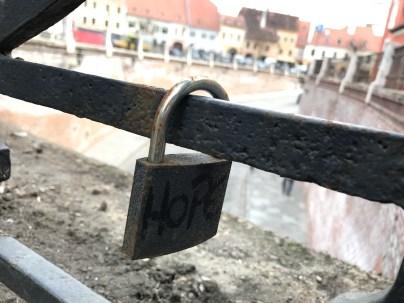a lock left on Liars Bridge